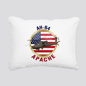 AH-64 Apache Rectangular Canvas Pillow