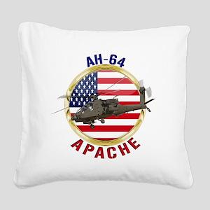 AH-64 Apache Square Canvas Pillow