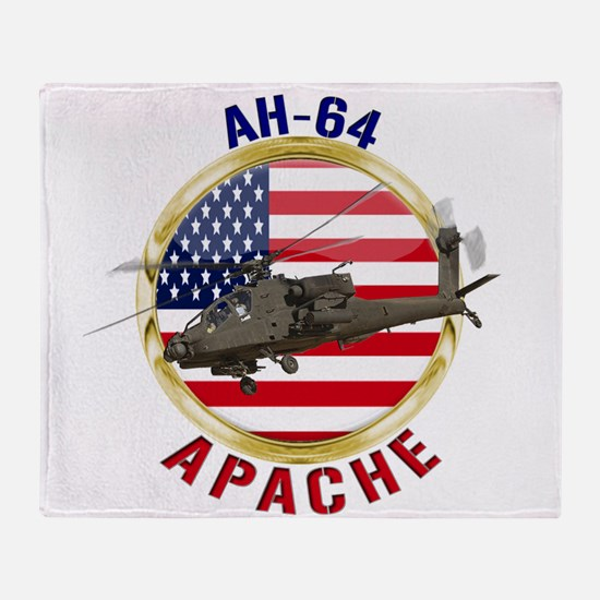 AH-64 Apache Throw Blanket