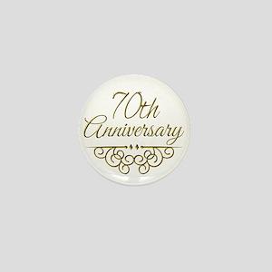 70th Anniversary Mini Button