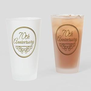 70th Anniversary Drinking Glass