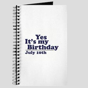 July 10 Birthday Journal