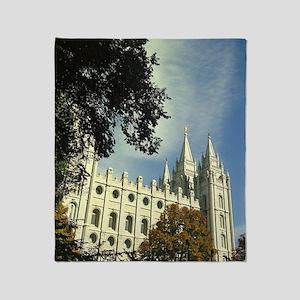 Salt Lake Mormon Temple Throw Blanket