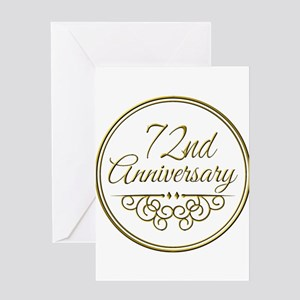 72nd Anniversary Greeting Cards