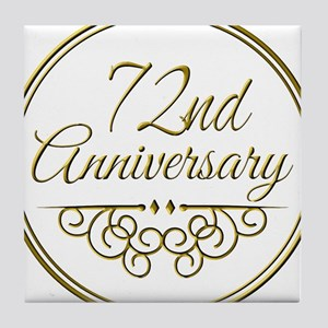72nd Anniversary Tile Coaster