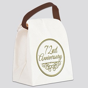 72nd Anniversary Canvas Lunch Bag