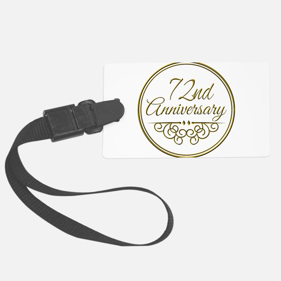 72nd Anniversary Luggage Tag