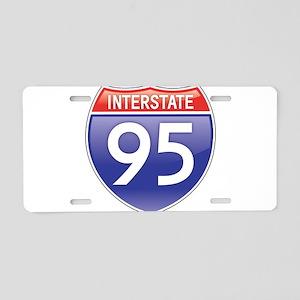 Interstate 95 Aluminum License Plate