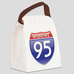 Interstate 95 Canvas Lunch Bag