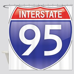 Interstate 95 Shower Curtain