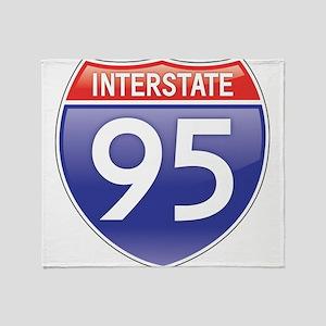 Interstate 95 Throw Blanket