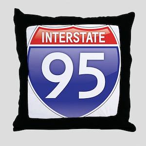 Interstate 95 Throw Pillow