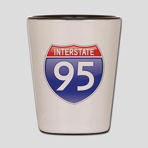 Interstate 95 Shot Glass