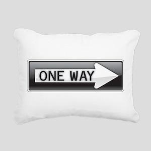 One Way Rectangular Canvas Pillow