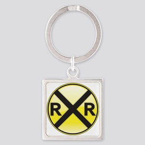 Railroad Crossing Keychains