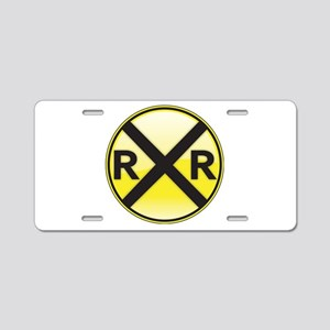 Railroad Crossing Aluminum License Plate