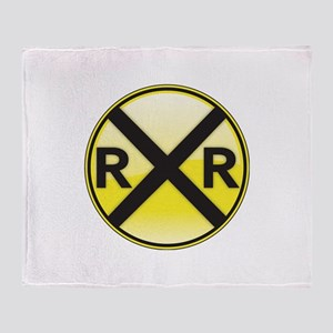 Railroad Crossing Throw Blanket