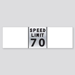 Speed Limit 70 Bumper Sticker