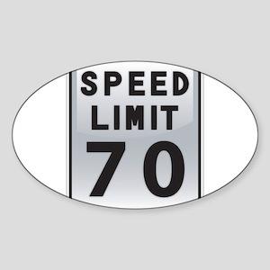 Speed Limit 70 Sticker