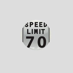 Speed Limit 70 Mini Button