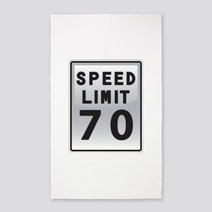 Speed Limit 70 3'x5' Area Rug