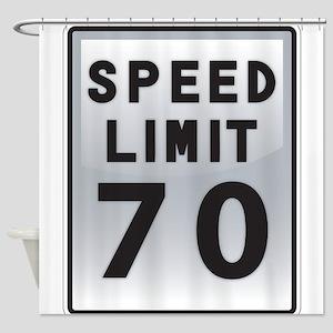 Speed Limit 70 Shower Curtain