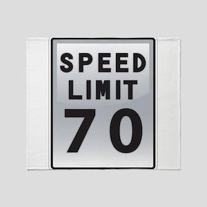 Speed Limit 70 Throw Blanket