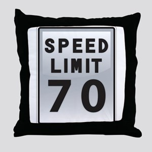 Speed Limit 70 Throw Pillow