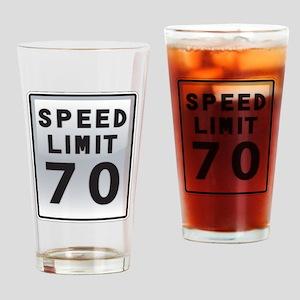 Speed Limit 70 Drinking Glass