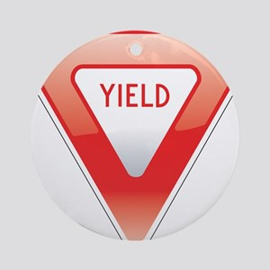 Yield Ornament (Round)