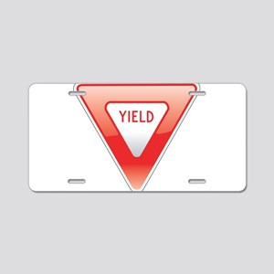 Yield Aluminum License Plate