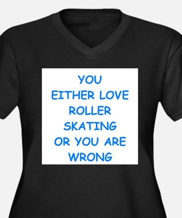 roller skating Plus Size T-Shirt