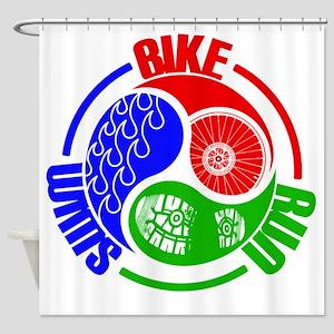 Triathlon TRI Swim Bike Run Yang Words Shower Curt