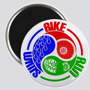 Triathlon TRI Swim Bike Run Yang Words Magnets