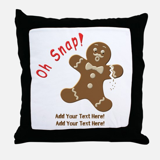 Add Your Text Here Throw Pillow