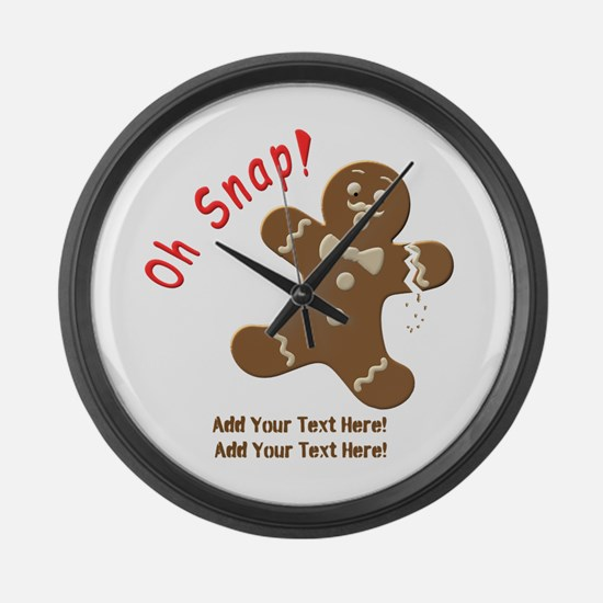 Add Your Text Here Large Wall Clock