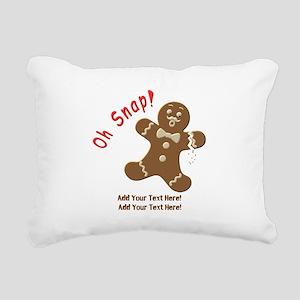 Add Your Text Here Rectangular Canvas Pillow