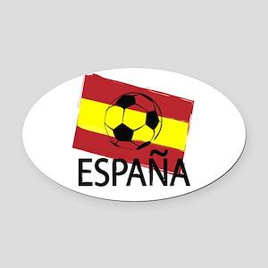 Italia Italy Football Soccer ball Oval Car Magnet