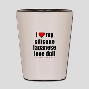 """I Love My Japanese Love Doll"" Shot Glass"