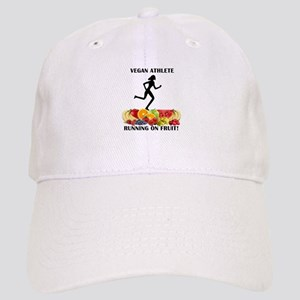 Lady Vegan Athlete Running on Fruit Baseball Cap