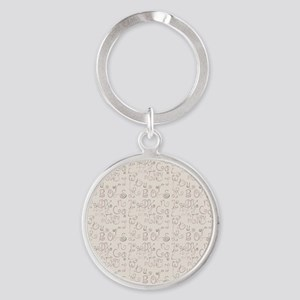 Abstract Alphabet Keychains