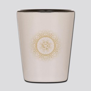 Yoga Mandala Henna Ornate Ohm Crown Black Shot Gla