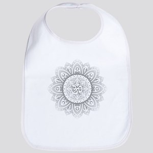 Yoga Mandala Henna Ornate Ohm Crown Black Bib