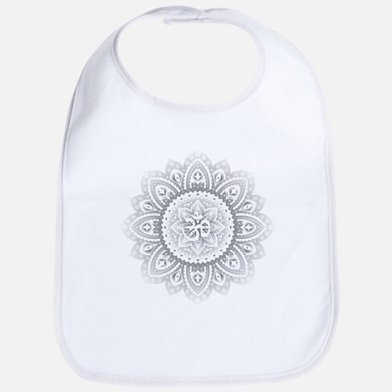 Yoga Mandala Henna Ornate Ohm Crown Black Bib