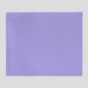 periwinkle solid color Throw Blanket