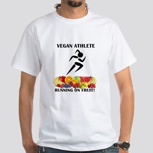 Girl Vegan Athlete Running on Fruit T-Shirt