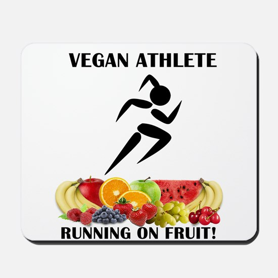 Girl Vegan Athlete Running on Fruit Mousepad