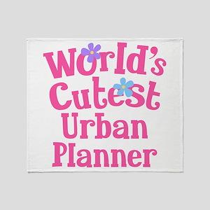 Worlds Cutest Urban Planner Throw Blanket