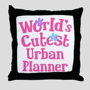 Worlds Cutest Urban Planner Throw Pillow