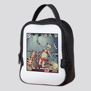Cat Pole Dancers Neoprene Lunch Bag